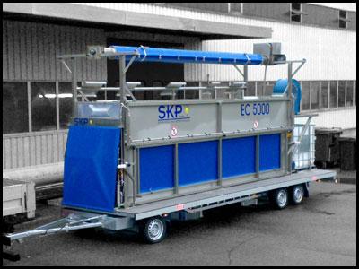 EC Mobil- Zeltreinigungsanlage