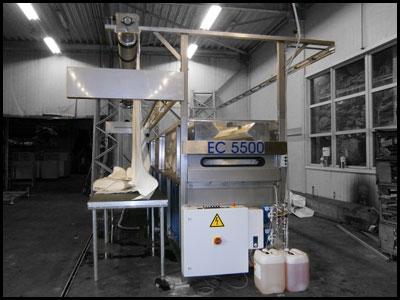 EC5500 - manuelle  Zeltreinigungsanlage