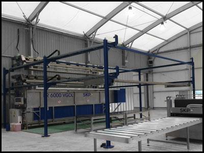 PR6000 - automatische Zeltreinigunsanlage