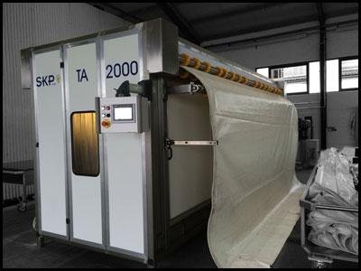 TA2000 - Trocknungsanlage für Zeltplanen